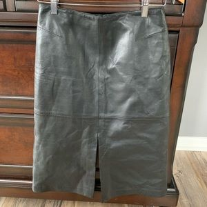 Women's Leather pencil skirt
